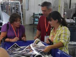 The plant tour allows you to see exactly how publishing yearbooks works.